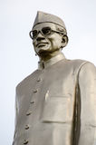 Neelam Sanjeeva Reddy Monument. Public monument statue of Dr Neelam Sanjeeva reddy (1913 - 1996) former President of India.  Statue beside a busy road in Royalty Free Stock Photography
