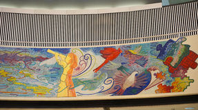 Public Mural in Chicago O'Hare airport Royalty Free Stock Photography