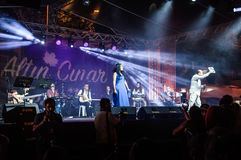 Public Music Festival. Annual music festival open to public organized by the municipality of a small summer town named Cinarcik located in Marmara region of the Stock Image
