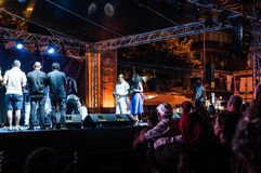 Public Music Festival. Annual music festival open to public organized by the municipality of a small summer town named Cinarcik located in Marmara region of the Stock Photo