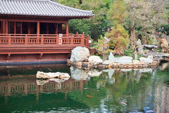 Public Nan Lian Garden, Chi Lin Nunnery, Diamond Hills, Hong Kong Royalty Free Stock Images