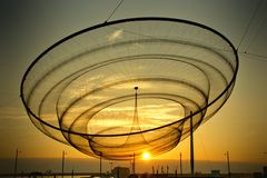 Public network sculpture in roundabout royalty free stock photos