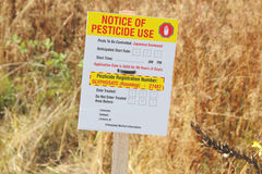 Public Notice and Pesticide Useage Royalty Free Stock Photo