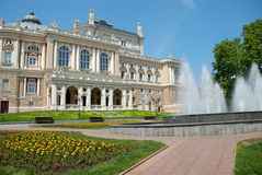 Public opera theater in Odessa Stock Photos