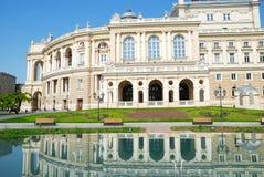 Public opera theater in Odessa Ukraine Royalty Free Stock Photos