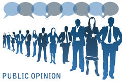 Public opinion royalty free illustration