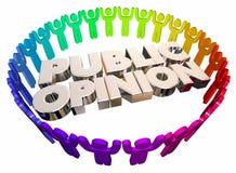 Public Opinion Open Forum People Words stock illustration