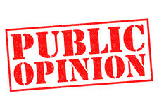 PUBLIC OPINION. Red Rubber Stamp over a white background Royalty Free Stock Photo