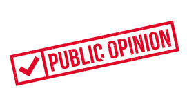 Public Opinion rubber stamp Stock Photography