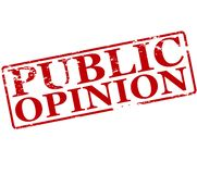 Public opinion. Rubber stamp with text public opinion inside,  illustration Royalty Free Stock Image
