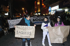 Public outcry against HidroAysén Project in Chile Stock Photo