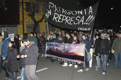Public outcry against HidroAysén Project in Chile Royalty Free Stock Photography