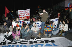 Public outcry against HidroAysén Project in Chile Royalty Free Stock Photos