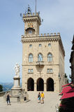 The public palace on Borgo Maggiore at San Marino Royalty Free Stock Images