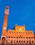 Public Palace with the Torre del Mangia in Siena Tuscany, Italy Royalty Free Stock Photos