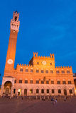 Public Palace with the Torre del Mangia in Siena, Tuscany, Italy Stock Image