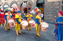 Public parade in Florence, Italy Royalty Free Stock Image