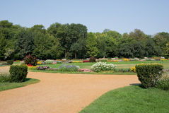 Public park. In Budapest, luxuriant nature in a sunny day Stock Photo