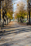 Public park at autumn, Vichy, France Stock Photos