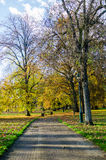 Public park at autumn, Vichy, France Royalty Free Stock Photos