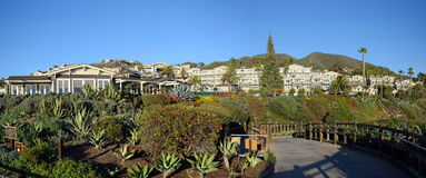 Public Park and beach access below the Montage Resort, South Laguna Beach California. Royalty Free Stock Images