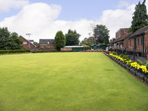Public park and Bowling Green in the Picturesque Town of Sandbach in South Cheshire England Stock Images