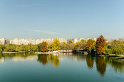 Public Park In Bucharest View stock image