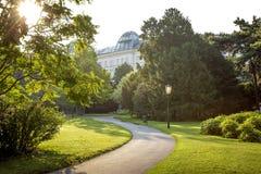 Public park in the center of Vienna, Austria stock photos