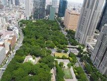 Public park - City view Stock Photo