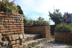 Public park in Malaga Royalty Free Stock Photo