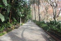 Public park in Malaga Stock Image