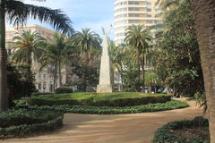 Public park in Malaga Royalty Free Stock Images