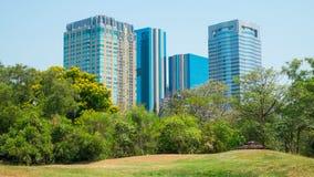 Public park, Modern building Stock Image