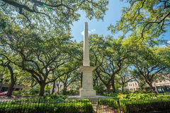 Public Park in oldtown Savannah, Georgia. In USA Stock Image