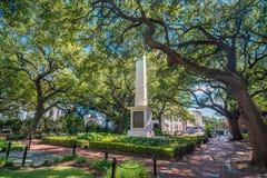 Public Park in oldtown Savannah, Georgia. In USA royalty free stock image