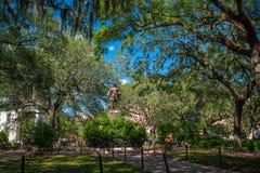Public Park in oldtown Savannah, Georgia. In USA stock images