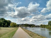 Public park at Regensburg, Germany stock photography
