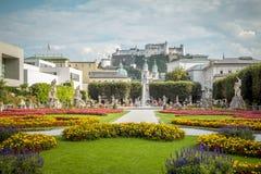 Public park in Salzburg, Austria Stock Image