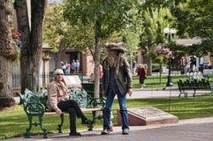 Public Park in Santa Fe New Mexico USA Stock Photos