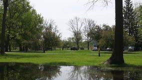 Public Park stock video footage