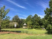 Public park view on a beautiful day Royalty Free Stock Image