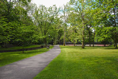 Public Park Walking Path Royalty Free Stock Photo