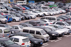 Public parking lot Stock Image