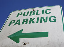 Public parking sign Royalty Free Stock Photography