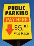 Public Parking Sign Stock Photo