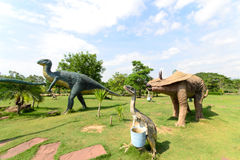 Public parks of statues and dinosaur Stock Photography