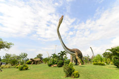 Public parks of statues and dinosaur Royalty Free Stock Images