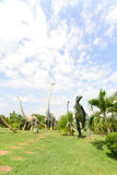 Public parks of statues and dinosaur Royalty Free Stock Photo