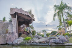Public parks of statues and dinosaur in KHONKEAN , THAILAND. KHONKEAN, THAILAND - 25 SEP 2015 : Public parks of statues and dinosaur in KHONKEAN , THAILAND Stock Photo