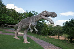 Public parks of statues and dinosaur in KHONKEAN , THAILAND Royalty Free Stock Photo